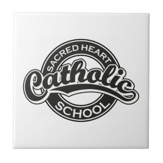 Preto sagrado da escola católica do coração azulejos de cerâmica