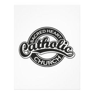 Preto sagrado da igreja Católica do coração Modelos De Papel De Carta