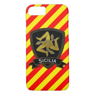 Preto siciliano de Trinacria & amarelo vermelho do Capa iPhone 7