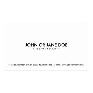 preto simples & branco modelo cartao de visita