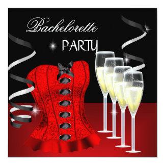 Preto vermelho Champagne do espartilho da festa de