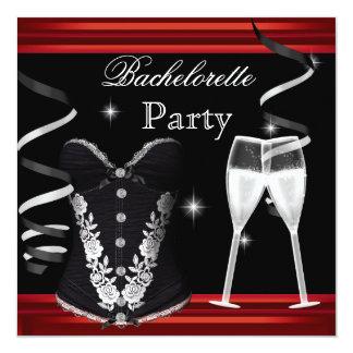 Preto vermelho Champagne do espartilho da festa de Convite Quadrado 13.35 X 13.35cm