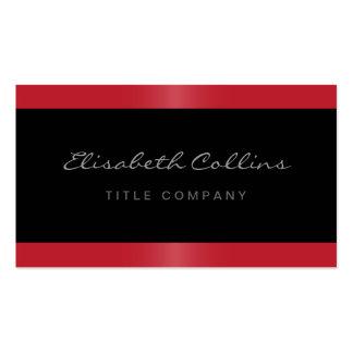 Preto vermelho da beira do cetim à moda elegante p modelos cartoes de visitas