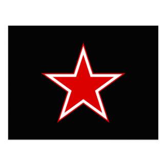 Preto vermelho da estrela cartão postal