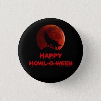 Preto vermelho do Dia das Bruxas da lua do sangue Bóton Redondo 2.54cm