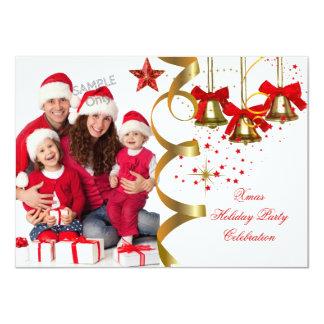 Preto vermelho do ouro da festa de Natal do Convite 11.30 X 15.87cm