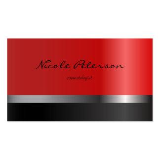 Preto vermelho do salão de beleza cartão de visita