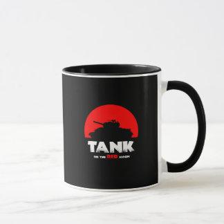 Preto vermelho do tanque da lua caneca combinado