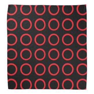 Preto vermelho dos círculos bandanas
