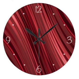 Preto vermelho listras protegidas relógio grande