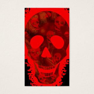 Preto vertical do cartão de visita vermelho grande