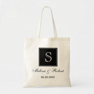 Preto Wedding personalizado da sacola   do Sacola Tote Budget