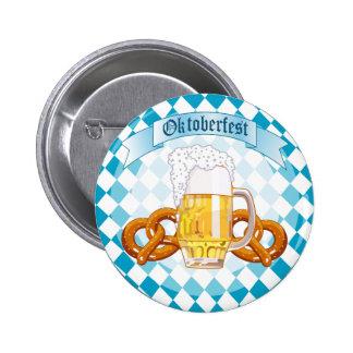 Pretzeis & cerveja de Oktoberfest Boton