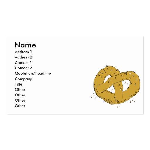 pretzel macio quente salgado modelo cartões de visitas