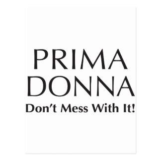 Prima Donna: Não suje com ele - a atitude Cartão Postal