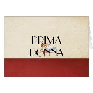 Prima SUPERIOR Donna Cartão Comemorativo