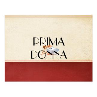 Prima SUPERIOR Donna Cartão Postal