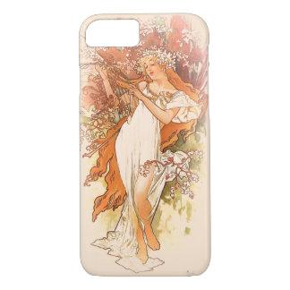 Primavera - arte Nouveau de Alphonse Mucha Capa iPhone 7