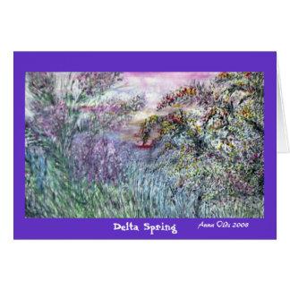 Primavera do delta cartão comemorativo
