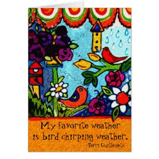 Primavera do verão dos pássaros do cartão do