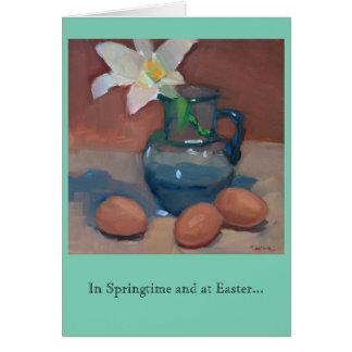 Primavera e páscoa cartão comemorativo