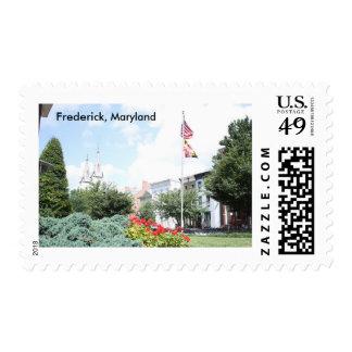 Primavera em Frederick, selo postal de Maryland
