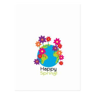 Primavera feliz cartão postal