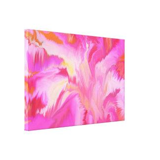 Primavera feliz esticado da cópia das canvas impressão em tela