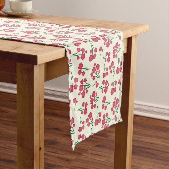 Primavera magenta das flores do rosa da flor da caminho de mesa pequeno