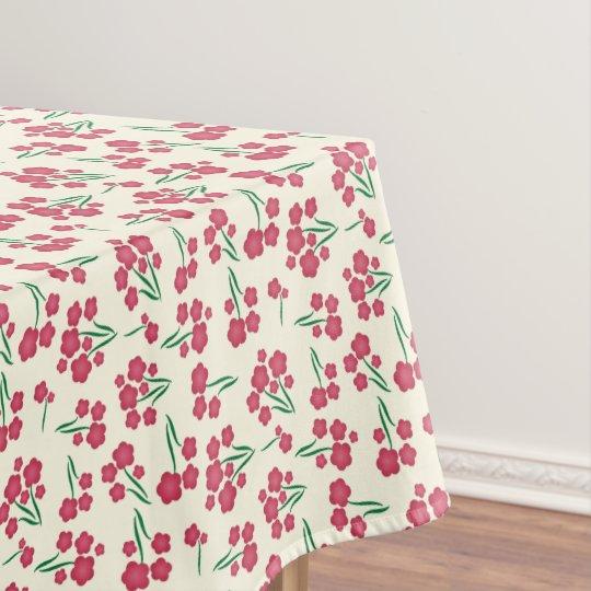 Primavera magenta das flores do rosa da flor da toalha de mesa