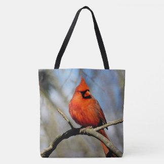 (Primavera) sacola impressa cardinal do norte Bolsas Tote