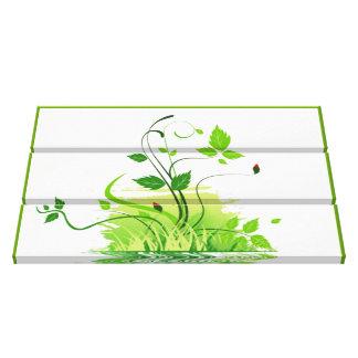 Primavera verde impressão em canvas