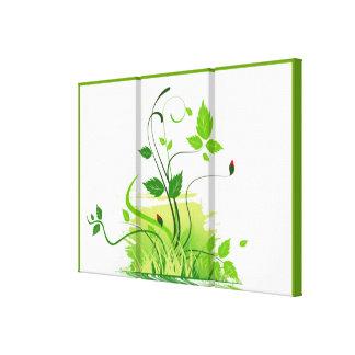 Primavera verde impressão de canvas esticadas