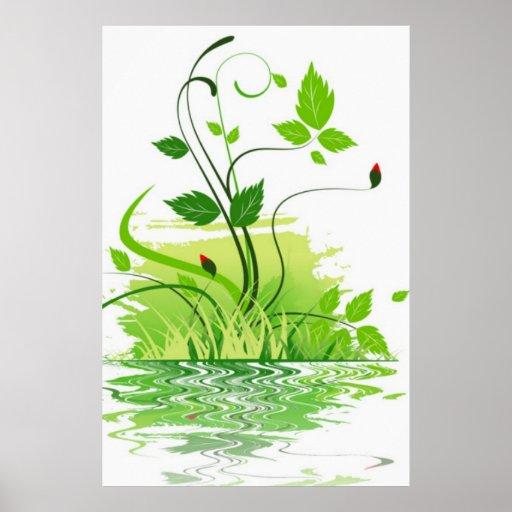 Primavera verde poster