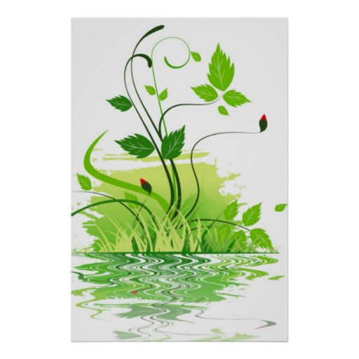 Primavera verde pôsteres