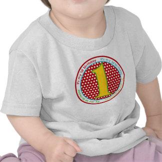 Primeira camisa do aniversário T Tshirts