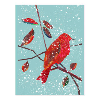 Primeira época natalícia da neve cartão postal