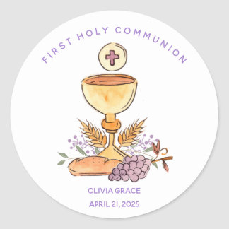 Primeira etiqueta dos símbolos do comunhão
