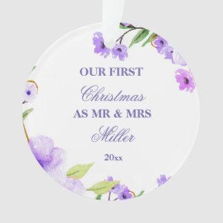 Primeira flor Wedding da aguarela dos enfeites de