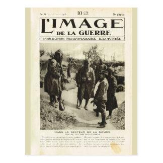 Primeira Guerra Mundial, soldados no Somme Cartão Postal
