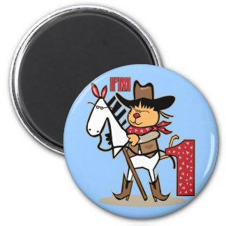 Primeira idade 1 do cavalo de vara do vaqueiro do  imã