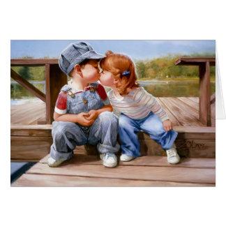 Primeiramente cartão do beijo