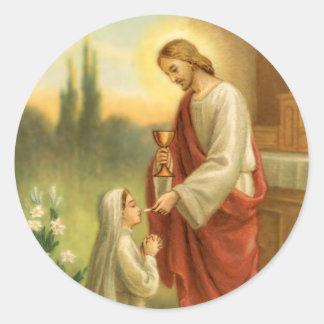 Primeiras etiquetas do comunhão: Eucaristia em