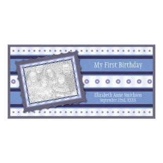 Primeiras memórias do aniversário meu ø cartão com cartão com foto