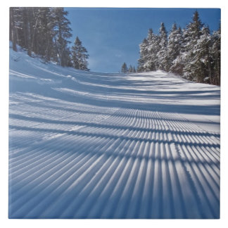 Primeiras trilhas do esqui