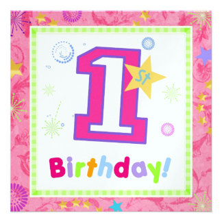 Primeiro aniversário 1 convite personalizados