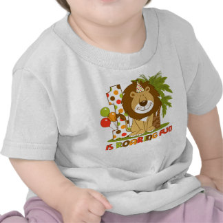 Primeiro aniversario bonito do leão camisetas
