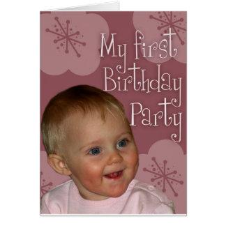 Primeiro aniversário cartão