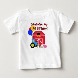 Primeiro aniversario da fazenda camiseta para bebê