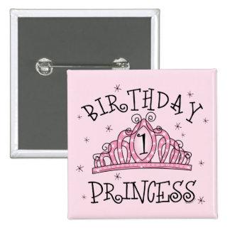 Primeiro aniversario da princesa do aniversário da botons